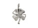 Sterling Silver 4-Leaf Clover Charm Bulk Pack of 50