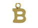 14K Gold Filled 8mm  Alpahbet Block Charm -  B