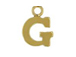14K Gold Filled 8mm  Alpahbet Block Charm -  G
