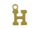 14K Gold Filled 8mm  Alpahbet Block Charm -  H