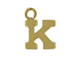 14K Gold Filled 8mm  Alpahbet Block Charm -  K
