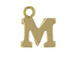14K Gold Filled 8mm  Alpahbet Block Charm -  M