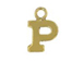 14K Gold Filled 8mm  Alpahbet Block Charm -  P