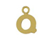 14K Gold Filled 8mm  Alpahbet Block Charm -  Q