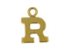 14K Gold Filled 8mm  Alpahbet Block Charm -  R