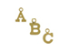 14K Gold Filled 8mm   8mm Tall Alphabet Block Charms -  Starter Set of 26 Charms