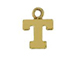14K Gold Filled 8mm  Alpahbet Block Charm -  T