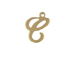 14K Gold Filled 11mm Alphabet Cursive Script Charm -  C