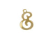 14K Gold Filled 11mm Alphabet Cursive Script Charm -  E