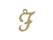 14K Gold Filled 11mm Alphabet Cursive Script Charm -  F