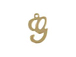 14K Gold Filled 11mm Alphabet Cursive Script Charm -  G