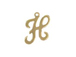 14K Gold Filled 11mm Alphabet Cursive Script Charm -  H