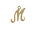 14K Gold Filled 11mm Alphabet Cursive Script Charm -  M