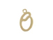 14K Gold Filled 11mm Alphabet Cursive Script Charm -  O