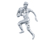 Sterling Silver Football Player #21 Charm