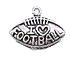 Sterling Silver Football with I Love Football Charm