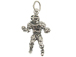 Sterling Silver Football Player #34 Charm