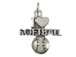 Sterling Silver I Love Softball Charm with Jumpring