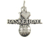 Sterling Silver I Love Basketball Charm with Jumpring
