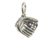 Sterling Silver Catcher' s Mitt Charm with Jumpring
