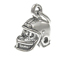 Sterling Silver Football Helmet 3D Charm with Jumpring