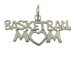 Sterling Silver Basketball Mom Charm with Jumpring