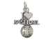 Sterling Silver I Love Baseball Charm with Jumpring