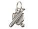 Sterling Silver Baseball Bat & Ball On Home Plate Charm with Jumpring