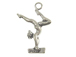 Sterling Silver Gymnast Female Balance Beam Charm with jumpring