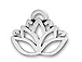 Sterling Silver Lotus Flower Charm with Jumpring