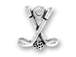 Sterling Silver Golf Clubs with Ball Sterling Silver Charm