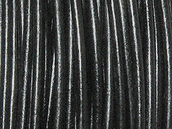 100 Meters - 1.75mm Round Black Finest Greek Leather Cord