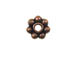 6mm Antiqued Copper Daisy Bead