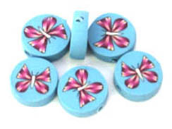 Butterfly (new style)  - 12.5mm Fimo Disc (Horizontal Hole)