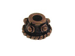 6mm Copper Plated Brass Bali Style Bead Cap