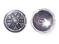 Sterling Silver Granulated Button