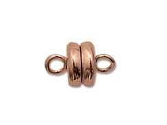 Antiqued Brass Plated: 6mm Round Magnetic clasp