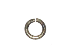 4mm Round Base Metal Open Jump Ring Antique Brass Plated (16ga)