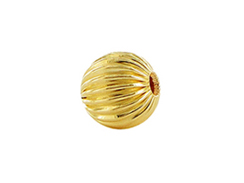 3mm Round Straight Corrugated 14K Gold Filled Beads