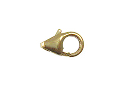 14K Gold-Filled 9x5mm Lobster Claw Trigger Clasp, no Jump Ring, Bulk Pack of 100