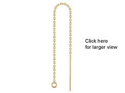 14K Gold-Filled 3.3 inch Ear Threader with Cable Chain