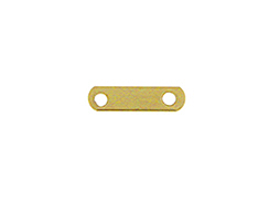 14K Gold-Filled 2-Hole Plain Spacer Bar for 4mm Beads