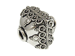 Bali Style Silver Focal 16.6mm Bead with 3.6mm Hole