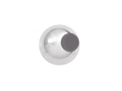 2  6mm Round Plain Seamless Sterling Silver Beads with 3.6mm Hole