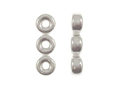 Sterling Silver 4mm Rondelle 3-Strand Spacer Bar