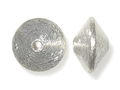 1  Sterling Silver 16x10mm Bicone Beads
