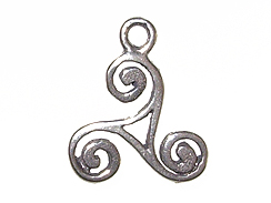 Sterling Silver 3-Sided Scroll Link