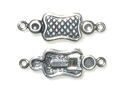 Sterling Silver: 25x8.25mm Invisible Watch Clasp