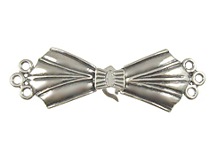 "Sterling Silver: 42.5x13.75mm 3-Strand ""Bow Tie"" Clasp"