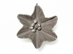 Sterling Silver Hill Tribe 3-D Flower Pendant